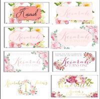 Boho Floral Theme Chocolate Wrappers Printable Digital File - Print At Home