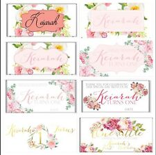 Boho Floral Theme Chocolate Wrappers Printable Digital - Print At Home