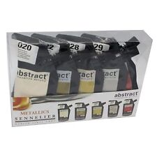 Sennelier Abstract Acrylic Paint Metallic Iridescent Colours Set 5 x 120ml