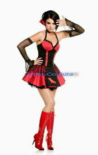 Ladies goth dracula vampire twilight with gloves halloween fancy dress costume