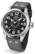 TW STEEL Volante VS12 Herrenuhr Sfoff Leder Armband Grau
