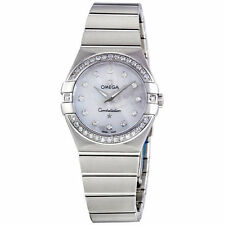 Omega Constellation Mother of Pearl Diamond Dial Ladies Watch 123.15.27.60.55.00