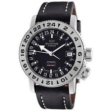 Glycine 3918.19.66.LB9B Men's Airman 18 Purist Automatic 39mm Black Dial Watch