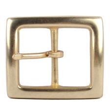 Messing Gürtelschnallen Stiftschnalle Ledergürtel Belt Pin Buckle Gold ID 38mm