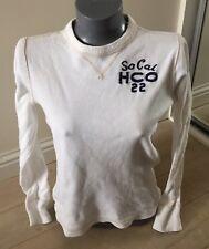 Authentic Hollister California Ladies Small White Colour Sweat Top VGC