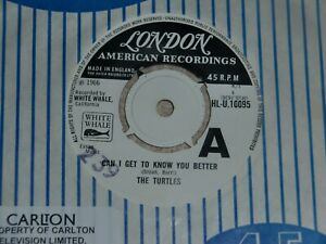 THE TURTLES. CAN I GET TO KNOW YOU. LONDON HLU 10095 (WHITE LABEL PROMO TRACK)