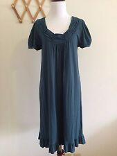 Ebase Women's Flounced Dress.Size M.100% COTTON