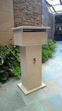 Limestone Letterbox Solid build real stone mailbox 820mm tall real limestone