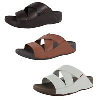 Fitflop Mens Chi Leather Strappy Slide Sandal Shoes