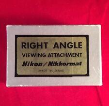 NIKON F NIKKORMAT RIGHT ANGLE VIEWING ATTACHMENT + ORIGINAL BOX