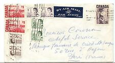 $5.01 bulky Air mail cover to FRANCE Centennial issue 7.A.M.S. labl cover Canada