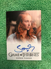Game of Thrones Season 2  Sophie Turner as Sansa Stark  Autograph Card