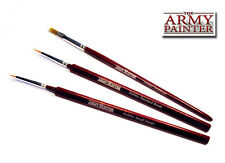 El pintor del ejército Hobby Cepillo Starter Set 3 Cepillos estándar, detalle, drybrush