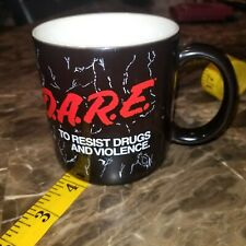 Vintage Porcela DARE To Keep Kids Off Drugs Coffee Mug Cup Just Say No Regan Era