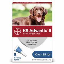 Bayer K9 Advantix II Flea & Tick Spot-On Treatment for Extra Large Dogs - 6-Dose