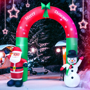 8FT Christmas Outdoor Lighted Inflatable Decor Giant Yard Party Decoration