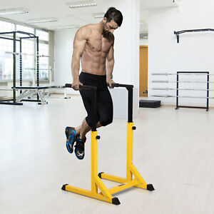 Dip Station Chin Up Parallel Bars Pull Up Power Tower Home Gym Workout