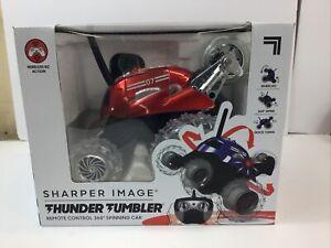 Sharper Image Thunder Tumbler Remote Control 360 Spinning Car Black.