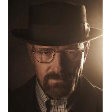 Black Men's BREAKING BAD BB Cosplay Hat Walter White Pork Pie Cap Heisenberg Hat