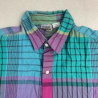 VINTAGE Gitano Button Up Shirt Mens Large Multicolor Short Sleeve