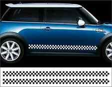 Nuevo BMW Mini a cuadros rayas laterales --- Pegatinas/Calcomanías/rayas