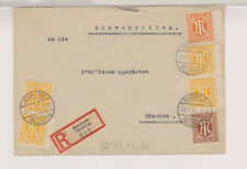 Bizone/AM-Post, Mi. 4z(4), 5z, 6z, R-Mannheim/Neckarau, 29.1.46, U hat kl. Mgl.
