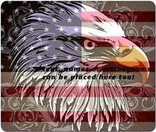 Bald Eagle On American Flag Background Computer Mouse Pad