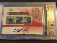 Autograph Upper Deck LeBron James 9.5 Basketball Cards