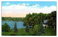 Mid-1900s Long Lake, Rice Lake, WI Postcard
