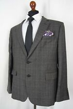 Men's New Jeff Banks STVDIO Slim Fit Grey Checked Suit 44R W38 L33 AA419