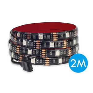 2M 5050 DC5V 60LED/M Black PCB Led Strip Lights Flexible Ribbon Waterproof