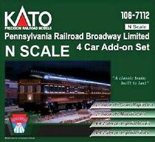 Kato N Scale N Pennsylvania Rr Broadway Limited 4 Car Add On Set #106-7112