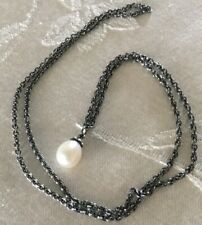 Trollbeads 23.6 Inch Pearl Silver Fantasy Necklace New