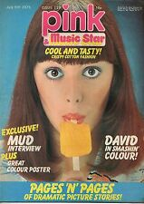 Pink & Music Star Magazine 5 July 1975 No 119   Mud   Gary Glitter   David Essex