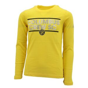 Columbus Crew Official MLS Adidas Youth Girls Size Long Sleeve Shirt New Tags