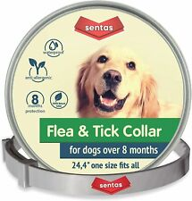 Sentas Dog Flea and Tick Collar for Small Dog Under 18 lbs 8 Month Protectionl