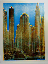 Lithography lithographie Litografia AGENORE FABBRI 1970 firmata e numerata