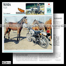 #033.14 HONDA XL 250 1973 Fiche Moto Motorcycle Card