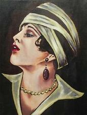 Dipinto originale olio su tela ritratto da Gregory Tillett: alto e potente