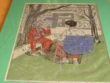 Vintage Matted Linocut Print Titled Clown Spec Ed 9/9 Signed  James Mathews 1979