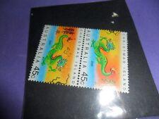 australia 2000 mint dragon stamp ( slight foxing @ back)