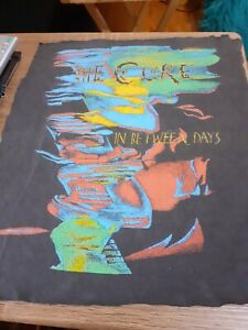 The Cure In Between Days Vintage Shirt Cut 4 Backpatch Years Ago Goth Rob Smith