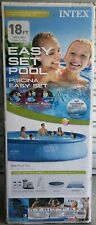 New listing Intex 18Ft X 48In Easy Set Pool Set With Filter Pump Ladder Cloth & Cover