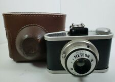 Vintage Meteor Film Camera With Brown Leather Case USED UNTESTED