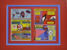 SECRETS Of SPIDER-MAN'S COSTUME, MASK & WEB PRINT PROFESSIONALLY MATTED