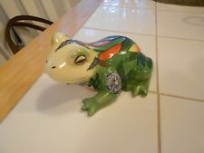 "WILLOW HALL NATURES PALETTE FROG FIGURINE 2002 ISSUE VG+ 5"" X 3 1/2"" X 2 1/2"""