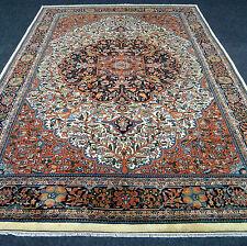 Antiker Orient Teppich 353 x 248 cm Alter Agra Beige Antique Old Oriental Carpet
