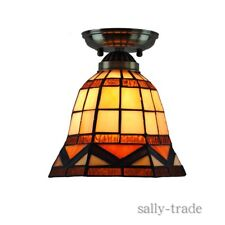 Tiffany Mini Hanging Light Vintage Stained Glass Shade Ceiling Lamp Fixture