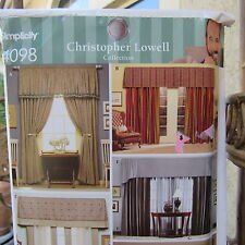 Simplicity 4098 Christopher Lowell Curtain Panel/Valance Sewing Pattern Uncut
