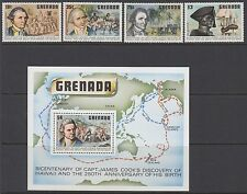 GRENADA :1978 Discovery of Hawaii/Cpt Cook set + M/Sheet SG 970-3-52+MS974 MNH